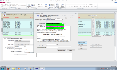 HOA Tracking Database Software™ Screenshot