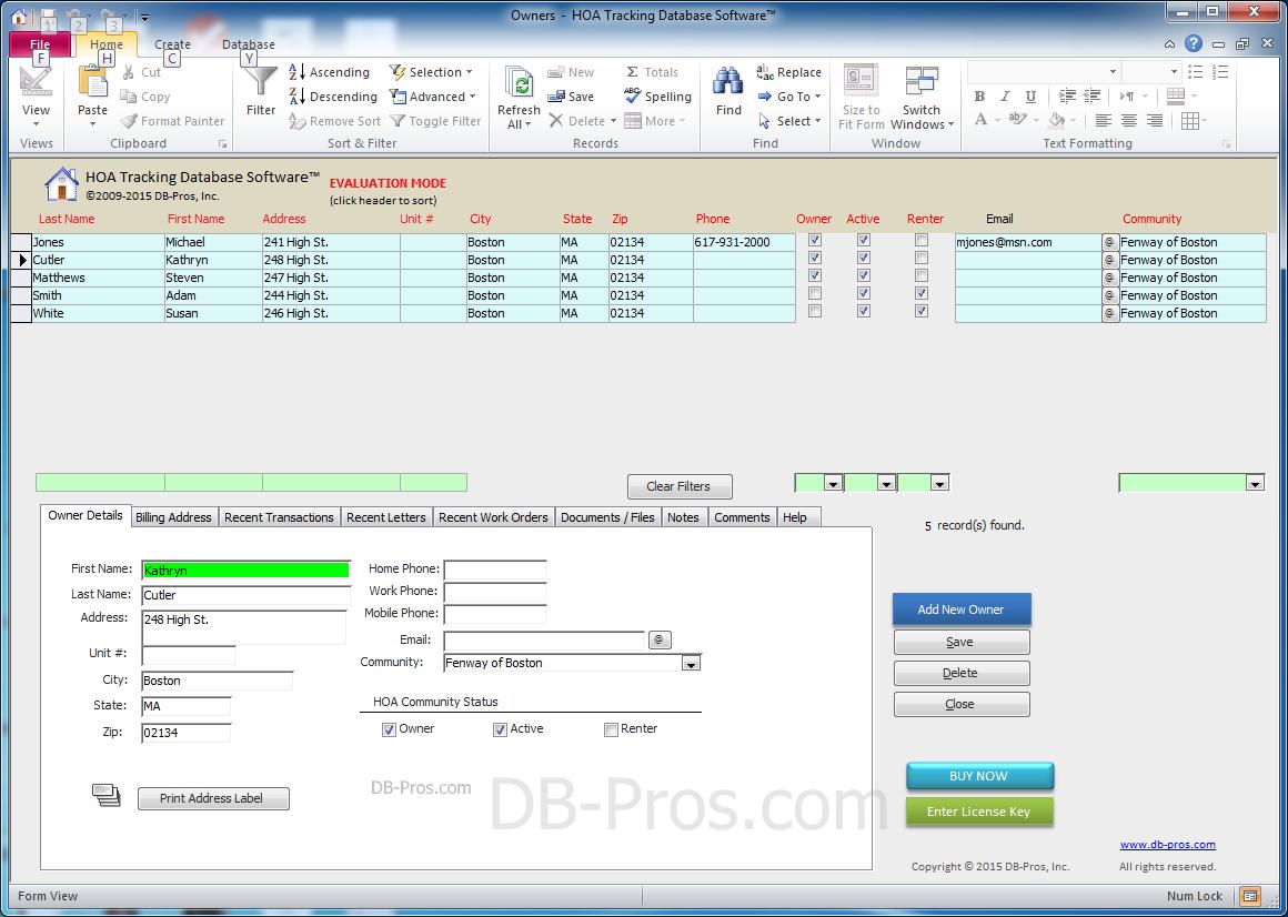 database management application